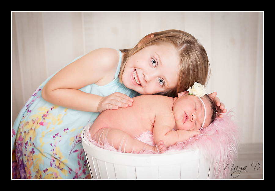 Sibling & Newborn portrait