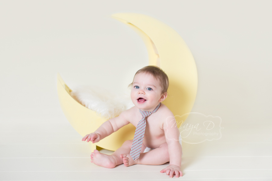 6 month old naked baby photography