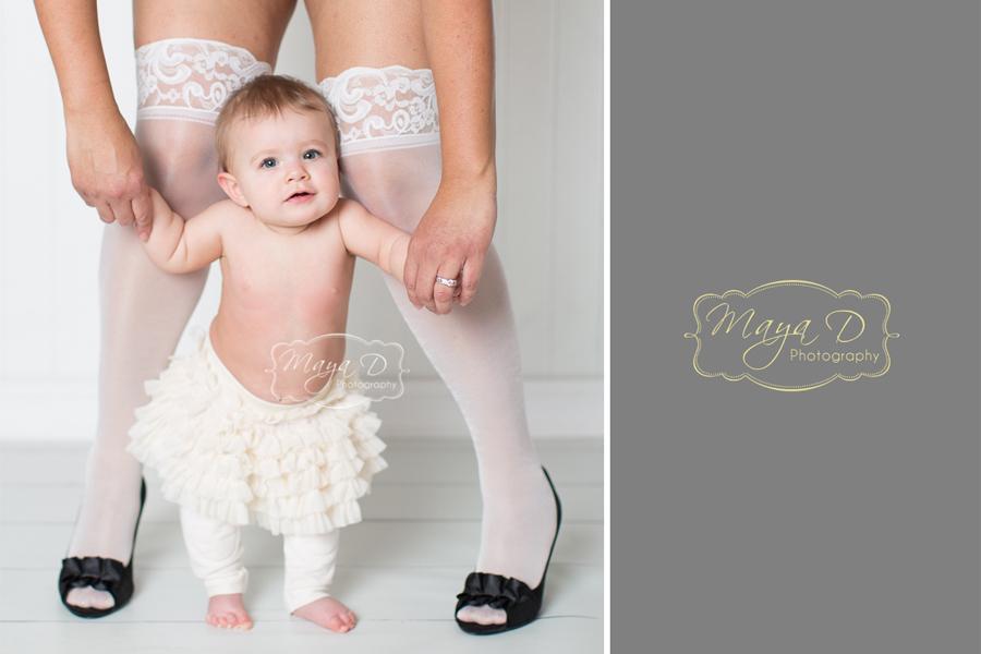mom leg & baby girl