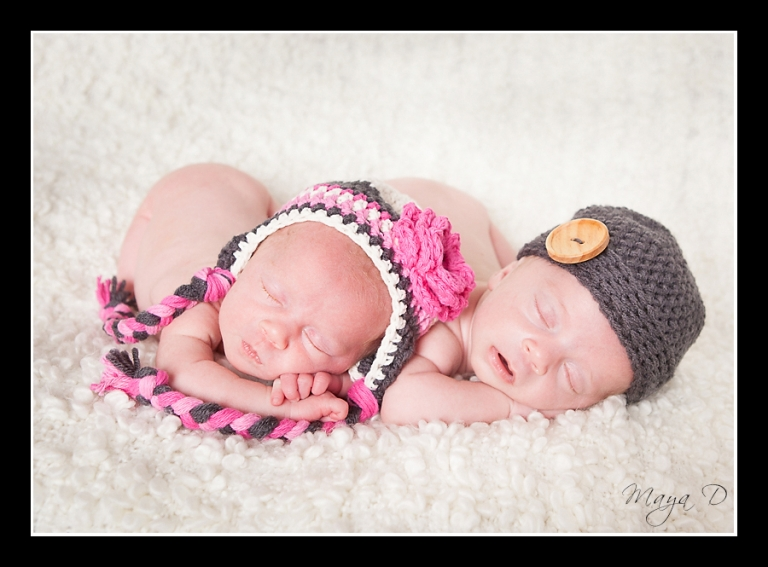 Twin Newborn Photography Columbus, OH