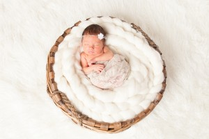 newborn in a basket