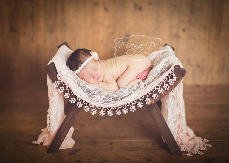 infant on bench